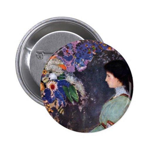 Retrato de Violette Heymann de Odilon Redon Pins
