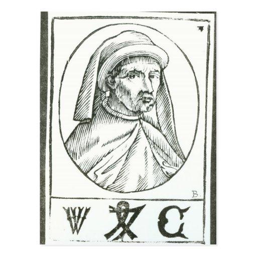 Retrato de William Caxton y de su impresora Tarjetas Postales