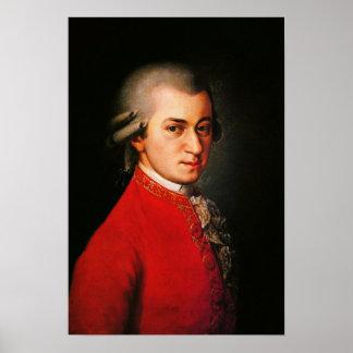 Retrato de Wolfgang Amadeus Mozart Póster