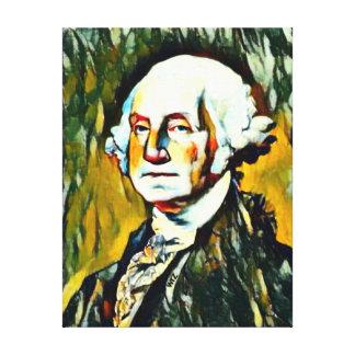 Retrato del aceite de George Washington Impresión En Lienzo