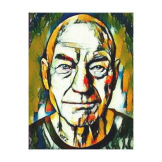 Retrato del aceite de Patrick Stewart Lienzo