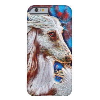 Retrato del aceite del afgano funda barely there iPhone 6