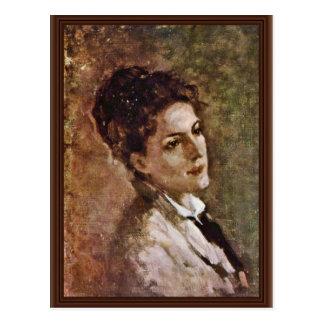 Retrato del Alexandrina Filionescu por Grigores Tarjetas Postales