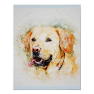 Retrato del arte del perro del labrador retriever