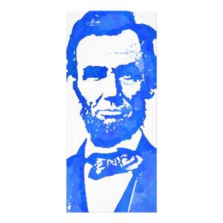 Retrato del arte pop de Abraham Lincoln Tarjetas Publicitarias Personalizadas