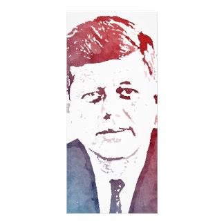 Retrato del arte pop de John F. Kennedy Tarjeta Publicitaria