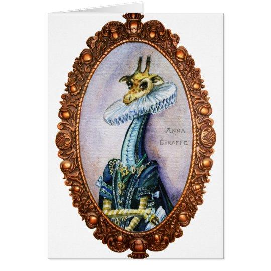 Retrato del Barroco de la jirafa Tarjeta De Felicitación