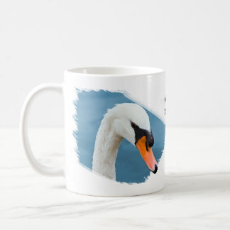 Retrato del cisne mudo taza de café