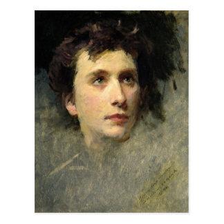 Retrato del compositor Pyotr Ilyich Postal