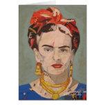 Retrato del en Coyoacán de Frida Kahlo Tarjeta De Felicitación