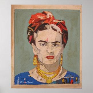 Retrato del en Coyoacán de Frida Kahlo Póster