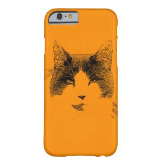 Retrato del gato funda de iPhone 6 barely there