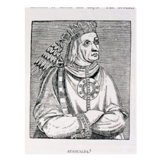 Retrato del jefe pasado del inca, Atahualpa Postal