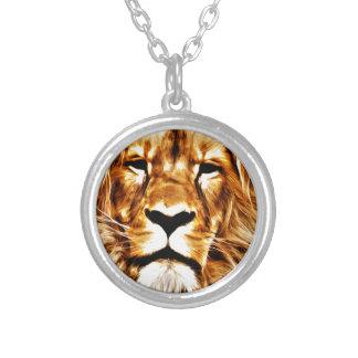 Retrato del león colgante redondo