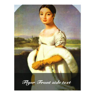 Retrato del Mademoiselle Riviere por el Au de Folleto 21,6 X 28 Cm