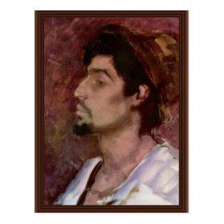 Retrato del Matei Rudaru de Grigorescu Nicolae Tarjetas Postales