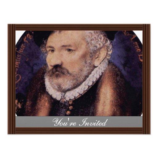 Retrato del padre de los artistas, Richard Hilliar Invitación