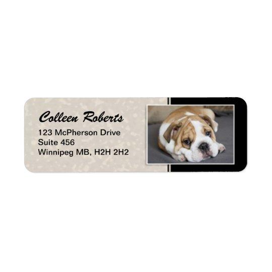 Retrato del perrito - estilo 2 etiqueta de remite