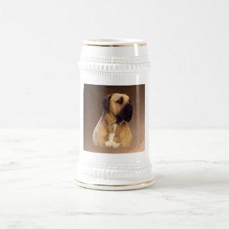 Retrato del perro de Dogue De Bordeaux Mastiff Jarra De Cerveza