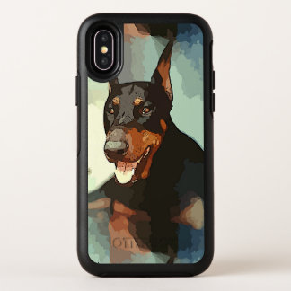 Retrato del Pinscher del Doberman