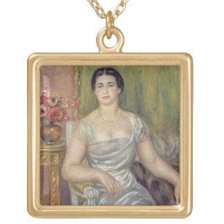 Retrato del poetess Alicia Valliere-Merzbach, 1 Colgante Cuadrado