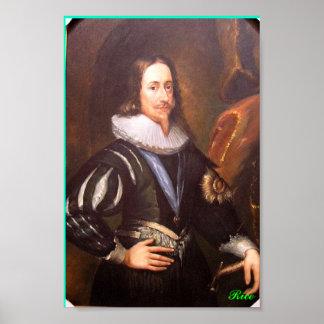 Retrato del rey de Charles I de Inglaterra - Póster