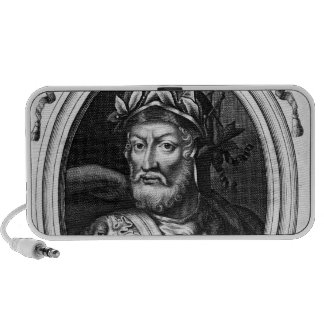Retrato del rey de Merovech de las cartas francas  Portátil Altavoces