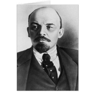 Retrato del ruso Vladimir Ilyich Lenin Tarjetas