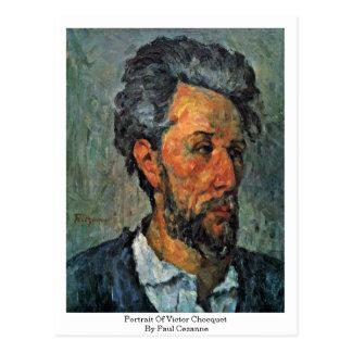 Retrato del vencedor Chocquet de Paul Cezanne Postal