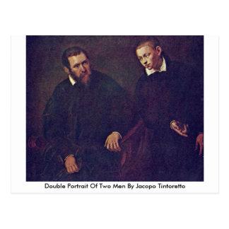 Retrato doble de dos hombres de Jacopo Tintoretto Postal