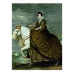 Retrato ecuestre de Elisabeth de Francia Tarjetas Postales