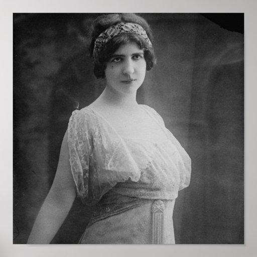 Retrato francés de Beriza de la margarita del cant Poster