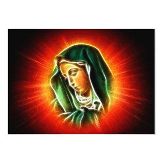 Retrato hermoso del Virgen María Invitación 12,7 X 17,8 Cm
