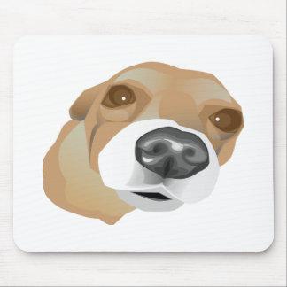 Retrato ilustrado del vector de un pequeño perro alfombrilla de ratón