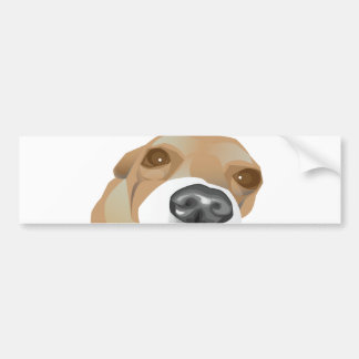 Retrato ilustrado del vector de un pequeño perro pegatina para coche