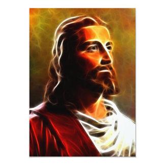 Retrato impresionante del Jesucristo Invitación 12,7 X 17,8 Cm