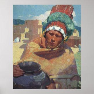 Retrato indio del nativo americano de Taos, Impresiones