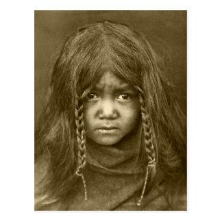 Retrato indio del vintage del nativo americano postales