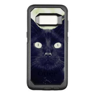 Retrato lindo del gato negro funda commuter de OtterBox para samsung galaxy s8