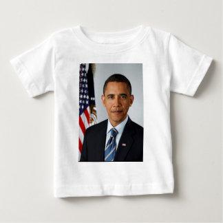Retrato oficial de presidente Barack Obama Camiseta De Bebé