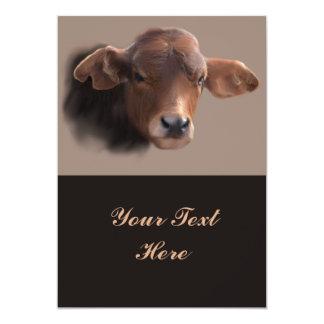 Retrato pelirrojo de la vaca de Brown Invitación 12,7 X 17,8 Cm