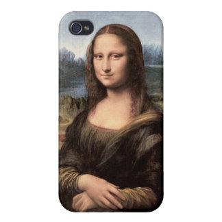 Retrato/pintura de Mona Lisa iPhone 4 Fundas