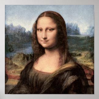 Retrato/pintura de Mona Lisa Póster