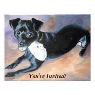 Retrato Snoopy del perro de la mezcla de Terrier d Anuncios Personalizados