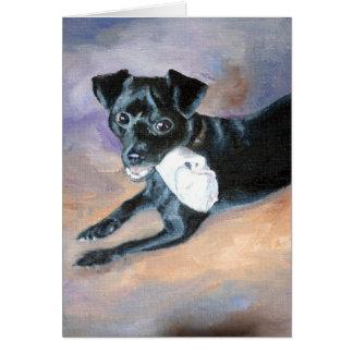 Retrato Snoopy del perro de la mezcla de Terrier d Tarjeta De Felicitación