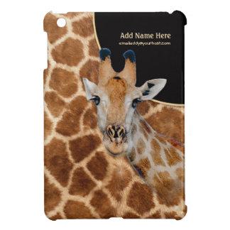 Retrato y piel - personalizar de la jirafa iPad mini funda