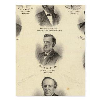 Retratos de FB Parker, TD Kanouse Postales