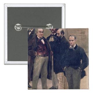Retratos de figuras literarias chapa cuadrada