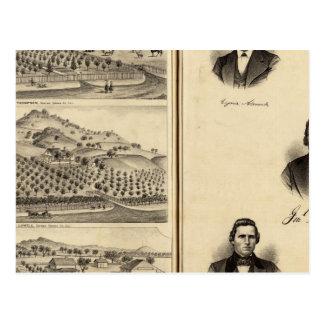 Retratos de Gen'l MG Vallejo, F Bedwell, malla del Postal