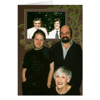 Retratos de la familia felicitaciones